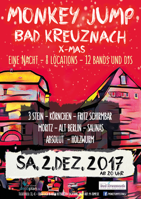 Bild: Monkey Jump Bad Kreuznach X-Mas - Eine Nacht - 8 Locations - 12 Bands und DJs