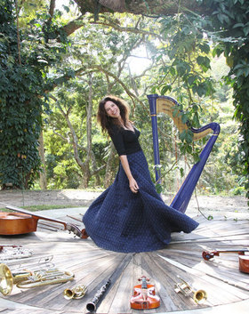 Bild: Jazzharfe mit Cristina Braga & Ricardo Medeiros - HarpaBossaJazzNight