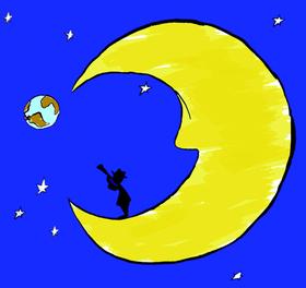 Bild: Der Mann im Mond - Eine Aufführung der Ballettschule Delphine