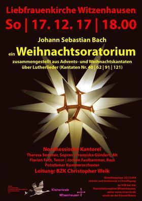Bild: J.S.Bach: ein Weihnachtsoratorium, zusammengestellt aus Advents- und Weihnachtskantaten über Lutherlieder (BWV 40, 62,91,121) - J.S.Bach: ein Weihnachtsoratorium (BWV 40,62,91,121)