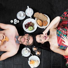 Bild: Bleib doch zum Frühstück! - Gegensätze ziehen sich aus :-)