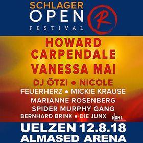 Bild: Open R Festival 2018 Schlager - Howard Carpendale, Vanessa Mai, Dj Ötzi, Nicole, Feuerherz u.a.