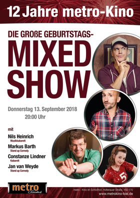 DIE GEBURTSTAGS-MIXED SHOW - N.Heinrich, Markus Barth, C.Lindner, J. van Weyde