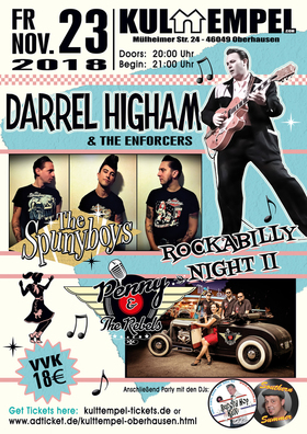 Bild: Rockabilly Night II incl. Aftershow-Party - Darrel Higham & The Enforces, Spunyboys, Penny & The Rebels