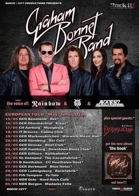 Bild: Graham Bonnet Band - The Voice of Rainbow - Michael Schenker Group - Alcatrazz - and many more