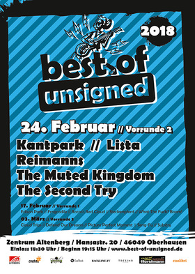Best of Unsigned 2018 - Runde 2 - mit Kantpark, Lista, reimanns, The Muted Kingdom, The Second Try