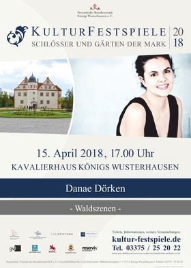 Bild: Kulturfestspiele Schlösser und Gärten der Mark 2018 - Danae Dörken - Programm Winterzauber
