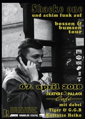 Bild: Shacke One   Bossen & Bumsen Tour 2018