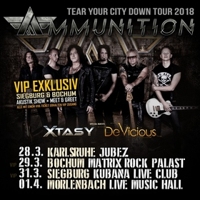 AMMUNITION + Special Guests: Xtasy & DeVicious - Tear Your City Down Tour 2018