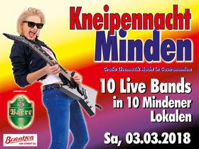 Bild: Kneipennacht Minden! - Die große Nacht der Bands - 10 Bands live in 10 Mindener Lokalen