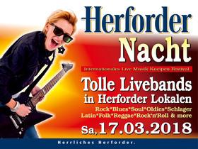 Bild: Herforder Nacht! - Die große Nacht der Bands - 14 Bands live in 14 Herforder Lokalen