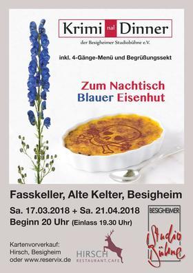 Bild: Zum Nachtisch blauer Eisenhut - Krimi(nal)Dinner