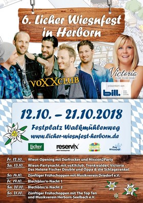 Bild: 6. Licher Wiesnfest Herborn - Wiesn-Opening: Dorfrocker, Mission2Party