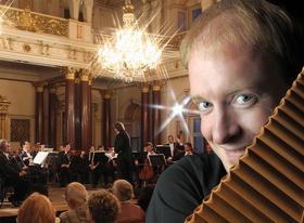 Bild: Russische Kammerphilharmonie St. Petersburg - mit Juri Gilbo, Dirigent und Matthias Schlubeck, Panflöte