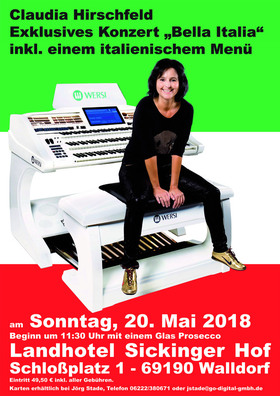 Bild: Claudia Hirschfeld - Bella Italia - Exklusives Konzert mit Prosecco Empfang und 2-Gänge-Menü