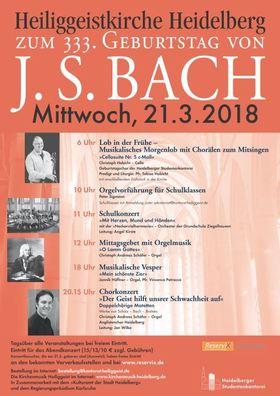 Bild: Musiklischer Festtag zum 333. Geburtstag von Johann Sebastian Bach -