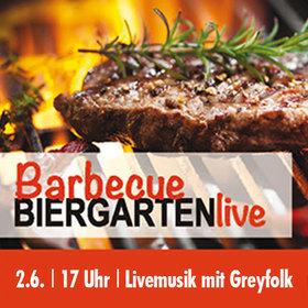 Bild: Barbeque Biergarten - live - leckeres vom Grill in Live-Musik von Greyfolk