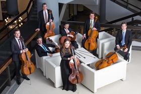 Bild: Die 7 Cellisten des Gewandhaus-Orchesters Leipzig