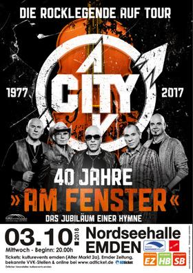 """Bild: CITY– Die Rocklegenden auf Tour - 40 Jahre """"Am Fenster"""" – Das Jubiläum einer Hymne"""