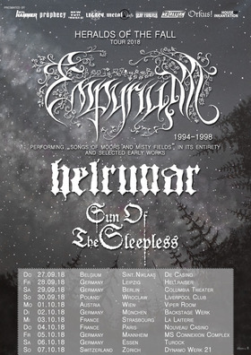 Empyrium - Heralds Of The Fall Tour 2018