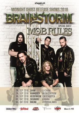 BRAINSTORM - Midnight Ghost Release Show + special guest MOB RULES