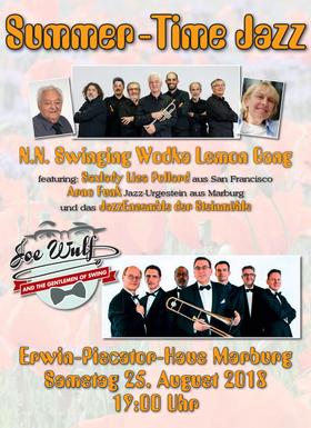 Bild: Summer-Time Jazz - Swinging Wodka Lemon Gang, Joe Wulf & Gentlemen of Swing, Lisa Pollard, JazzEnsemble der Steinmühle