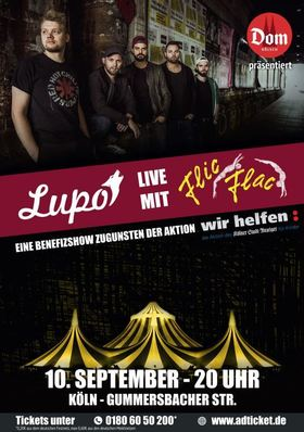 Bild: Lupo live mit Flic Flac - Benefizshow zugunsten der Aktion: wir Helfen!