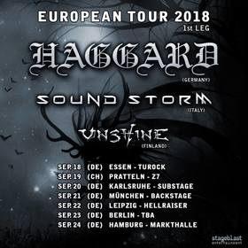 Haggard - European Tour 2018