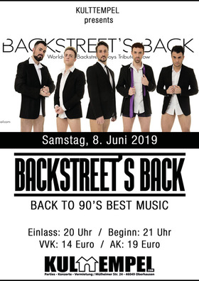 Bild: Backstreet's Back - Backstreet Boys Tribute