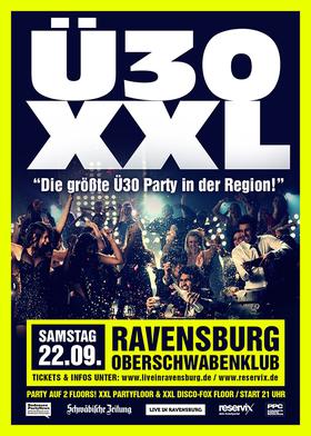 Bild: Ü30 XXL in der Oberschwabenhalle - Die größte Ü30 Party in der Region!