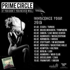 Bild: Prime Circle - Innocence Tour 2019