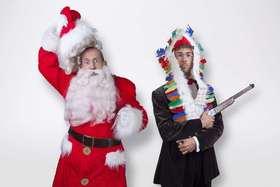 Bild: Zwei Herren spielen Weihnachten - Deutsch-Schwäbisches Musikkabarett