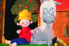 Bild: Der kleine König und das Pferd Grete - von Hedwig Munck