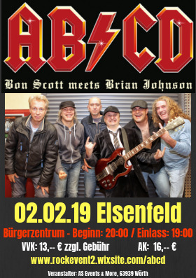 Bild: AC/DC Tribute Night mit AB/CD - Bon Scott meets Brian Johnson