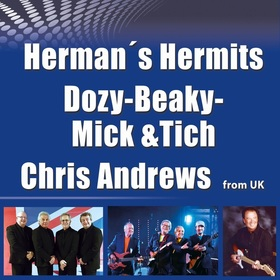Bild: Herman's Hermits & Dozy, Beaky, Mick & Tich & Chris Andrews - open air
