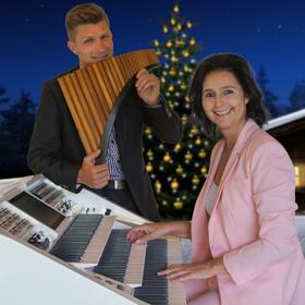 Bild: Winterwunderland - Claudia Hirschfeld (Wersi-Orgel) und David Döring (Planflöte)