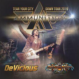 Bild: Ammunition / DeVicious / Age Sten Nilsen - Tear Your City Down - Tour 2019