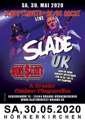 Bild: 8. Brander Oldtimer Pfingsttreffen - Slade UK // Bon Scott