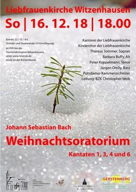 Bild: Bach: Weihnachtsoratorium, Kantaten 1,3,4,6