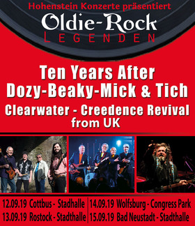 Bild: Ten Years After & CCR - feat. Peter Barton & Dozy, Beaky, Mick&Tich - Oldie Rock Legenden live from UK