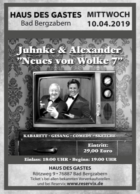 Bild: Juhnke & Alexander - neues von Wolke 7 - Comedy - Gesang - Kabarett