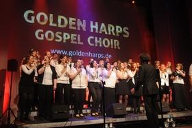 Bild: Benefiz-Konzert mit GOLDEN HARPS Gospel Choir - Anlässlich der Einweihung der Friedenskirche, zugunsten der Renovierung