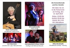 Bild: Die KronenKomede und ihre Künstler - Querbeet durch unseren Spielplan: Kabarett, Comedy & Musik