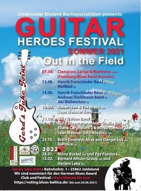 Guitar Heroes Festival - Die Creme de la Creme des Bluesrock auf Gerds Heuboden...