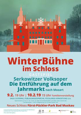 """Bild: Winterbühne im Schloss 2019 - Gastspiel der Serkowitzer Volksoper Dresden im Schloss Bad Muskau mit """"Die Entführung auf dem Jahrmarkt"""""""