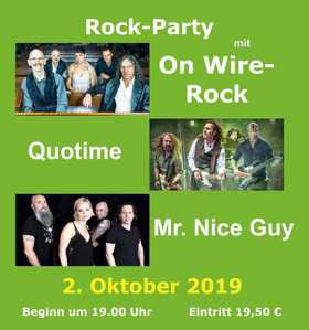 Bild: Rock-Party - mit On Wire-Rock, Quotime und Mr. Nice Guy