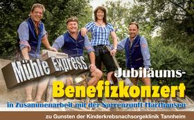 Jubiläums- Benefizkonzert in Zusammenarbeit mit der Narrenzunft Harthausen zu Gunsten der Kinderkrebsnachsorge Klinik Tannheim