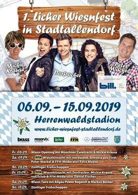 Bild: 1. Licher Wiesnfest Stadtallendorf - Wiesn-Opening mit Münchner Zwietracht & Mickie Krause