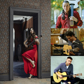 Bild: Nacht der Gitarren - mit Lulo Reinhardt (D), Daniel Stelter (D), Yulia Lonskaya (WR) und Itamar (Is)