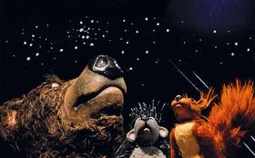 Bild: Herr Eichhorn und der Besucher vom blauen Planeten